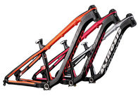 China Schwarze/orange Reitart Mtb-Mountainbike-Rahmen-Aluminiumlegierung Hardtail morgens Firma